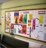 Notice boards in schools and colleges are too cluttered - Ad Infinitum clear panel advertising allows students to readily see and take notice of your Advertising Campaigns